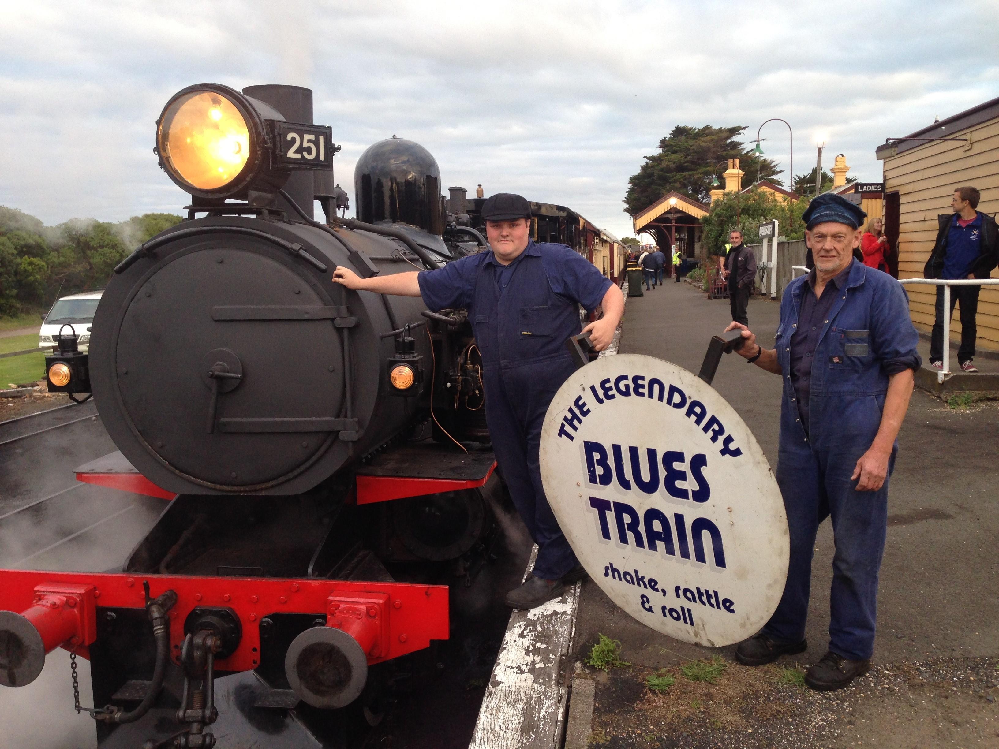 Volunteers for the Blues Train on the Bellarine Railway